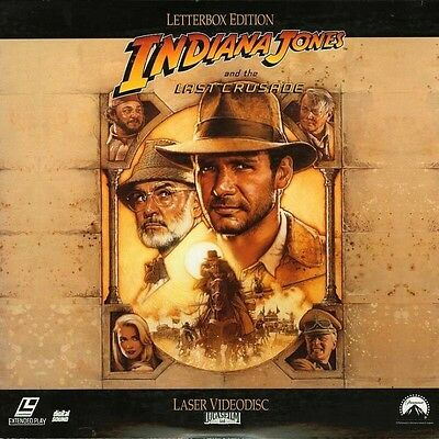 INDIANA JONES AND THE LAST CRUSADE WS CC NTSC LASERDISC Harrison Ford