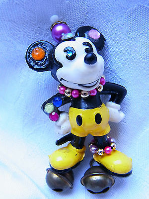 Vintage Design Strass Brosche Brooch Walt Disney Mickey Mouse Figur Bully Nr.144