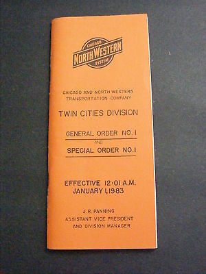 1983 C&NW Chicago North Western Railroad Twin Cities General Special Order