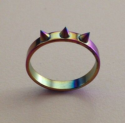 Stainless Steel Ring with 3 Sharp Spikes Scriber - Aus Size M - US 6 1/4