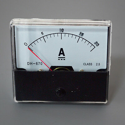 UPDATED DC 0-20A Analog Amp Meter Ammeter Current Panel