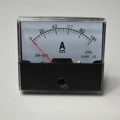 UPDATED DC 0-100A Analog Amp Meter Ammeter Current Panel