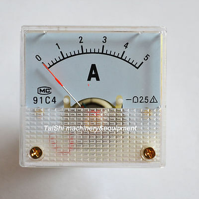 Good Quality Updated Analog Amp Current Panel Meter Dc 0~5A 91C4 Ammeter