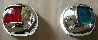 Lot de 2 Feux de navigation compact INOX 80mm