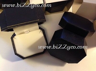 3 jewelry gift box, pendant,earring, lined leatherette. SPRING CLOSE/OPEN