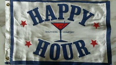 RARE SOUTHERN COMFORT HAPPY HOUR SILK FLAG BANNER ~11 X 18 VINTAGE ST LOUIS OHIO