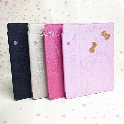 Cute HelloKitty SmartCover Leather Stand Case For iPad 2 3 4 Generation and Mini