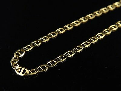 Mens 14K Yellow Gold Plated 24in Mariner Chain Necklace 3.2 MM