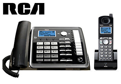 RCA 25255RE2 DECT 2 Line Corded Cordless Phone Set Visys Business Answering