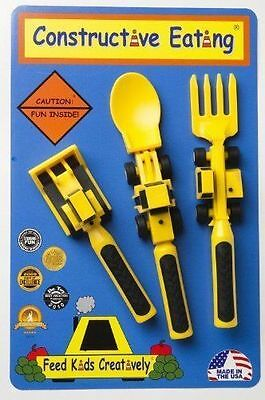 Constructive Eating 3 Piece  Worksite Utensil Set fun way to learn to eat