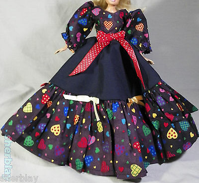 HANDMADE Layered Fashion Dress Clothes Gown Party Dress Outfit for BARBIE DOLL