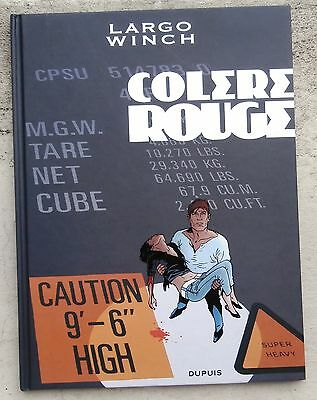 Largo Winch Colère Rouge rare tirage Luxe 2012 Neuf Francq Van Hamme