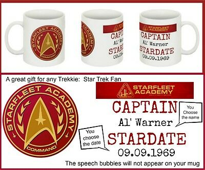 Star Trek Starfleet Academy  Personalised Mug Ideal For  Birthday- Anniversary