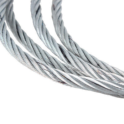 GALVANISED STEEL WIRE ROPE Winch Cable 30m Roll 3mm 4mm 5mm 6mm 8mm Galvanized