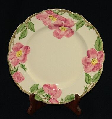 "Antique Franciscan Desert Rose 9.5"" Luncheon Plates California USA 1941-49 Marks"