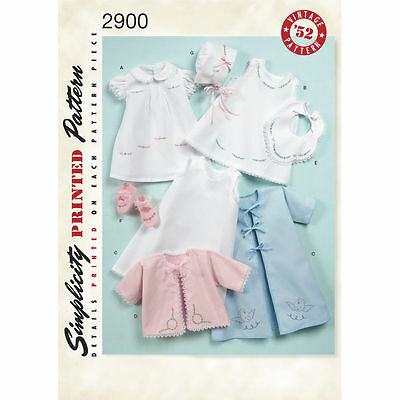 Sewing Pattern! Make Vintage Style Layette Clothes! Baby Girl Size Preemie~24 Lb