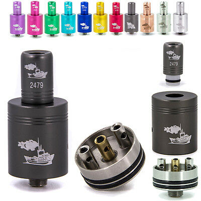 New! Tugboat RBA Re-buildable Tank Atomizer Clone 510 Thread Stainless Drip-Tip