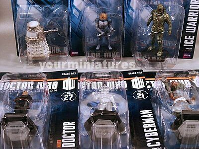 Doctor Who Official BBC Collector Figures 1:21 Statues  Mint Figures Damaged Box