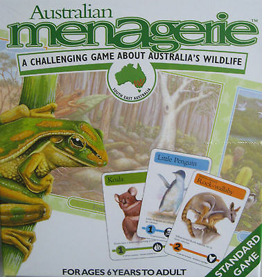 Australian Menagerie Wildlife Game Chance Strategy Board Card Educational Game