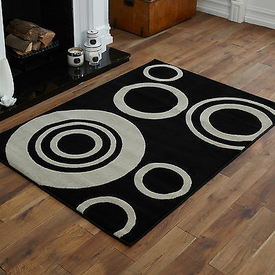 New Large Extra Large Black Grey Halo Medium Modern Small Design Best Rugs