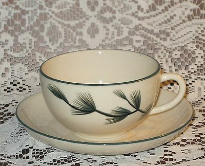 Winfield Ware California Potteries Blue Spruce Cup and Saucer