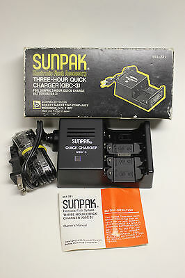 Sunpak Qbc-3 Three Hour Quick Charger New In Box