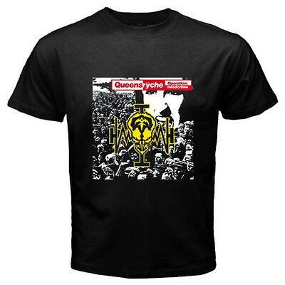 QUEENSRYCHE *The Warning Proggressive Rock Band Men/'s Black T-Shirt Size S-3XL