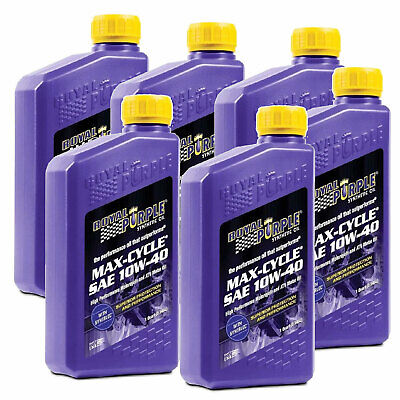 Royal Purple Oil 06315 MAX CYCLE 10W40 (QTY 6) QUART BOTTL
