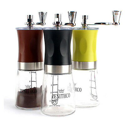 ZENITHCO Cofee Grinder Mini Hand Mill Portable Handheld Grinder 3Colors MG-731