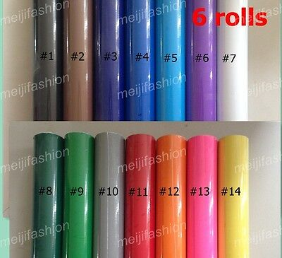 GLOSS 6 VINYL ROLLS Vinyl Cutter  Plotter, each roll 60cm*8m cutting plotter