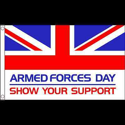 ARMED FORCES DAY FLAG BRITISH ARMY MILITARY NAVY RAF 3 SIZES 3x2 / 5x3 / 8x5ft