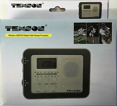Kitchen Am/fm Radio Lcd Display Under Cabinet Shelf Mounting Texson 05085