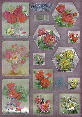 Dufex Die Cut Toppers - Waterfall Cards - Roses