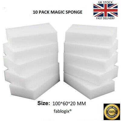 Magic Sponge eraser x 10  Melamine Foam sponges Stain Dirt Remover fablogix® UK