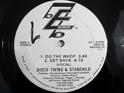 """Disco Twins & Starchild Do The Whop 12"""" Single 1986 RB3329 Vinyl Record"""