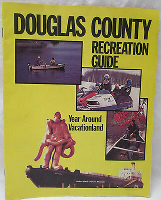 Vintage Douglas County Wisconsin Recreational Guide Brule River Lake Superior