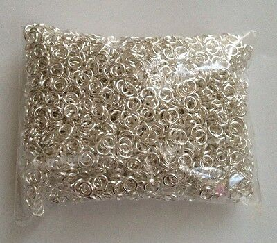 2000 pcs Silver Plated Open Jump Rings Jewelry Ring 3.5mm #5 Ring Bead Findings