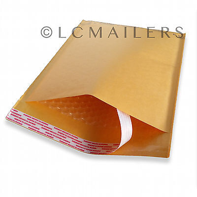 """500 #000 Kraft Bubble Mailers Padded Envelopes Bags 4"""" x 8"""""""
