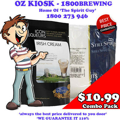 IRISH CREAM ICON LIQUEUR COMBO KIT @ $10.99 each By STILL SPIRITS