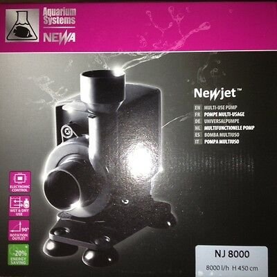 Aquarium Systems Newjet NJ8000 Multi-use Pump - Free First Class Postage!!