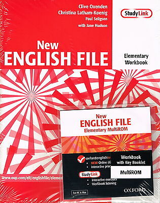 Oxford NEW ENGLISH FILE Elementary Workbook w Key & MultiROM @New@ 9780194387644
