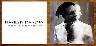 MARILYN MANSON The Pale Emperor Ltd Ed RARE New Poster +FREE Rock Poster!