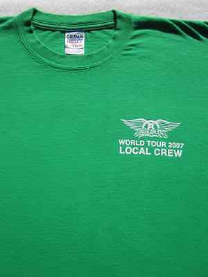 AEROSMITH LOCAL CREW 2007 tour XL T-SHIRT concert