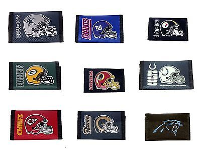 Official Licensed NFL Velcro Nylon Wallet Pick Your Team 11415