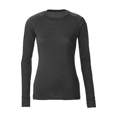 Kathmandu ultraCORE Womens Thermal Long Sleeve Crew Neck Base Layer Top Black