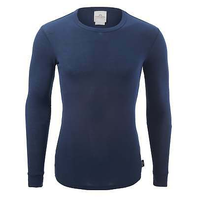 Kathmandu Polypro Mens Womens Long Sleeve Thermal Base Layer Top v2 Dark Blue