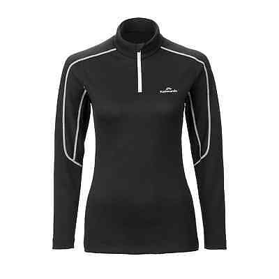 Kathmandu thermaPLUS Womens Polartec Long Sleeve High Neck 1/4 Zip Top Black
