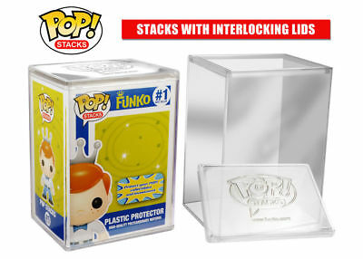 Funko Pop Stacks Premium Plastic Protector Case Protect Vinyl Figure & Packaging