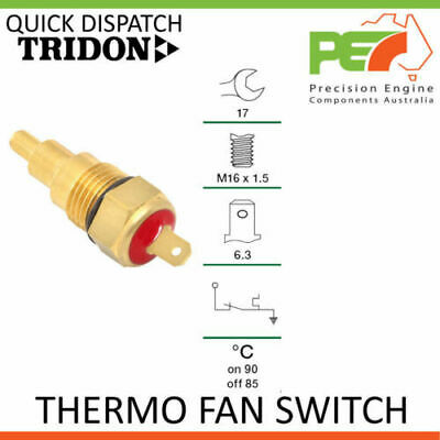 New Genuine * TRIDON * Universal Thermo Fan Switch- 90C ON   85C OFF, M16 x 1.5