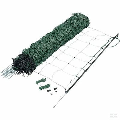 ELECTRIC SHEEP NETTING - 50m Roll 90cm Height Fencing Fence Dark Green Garden